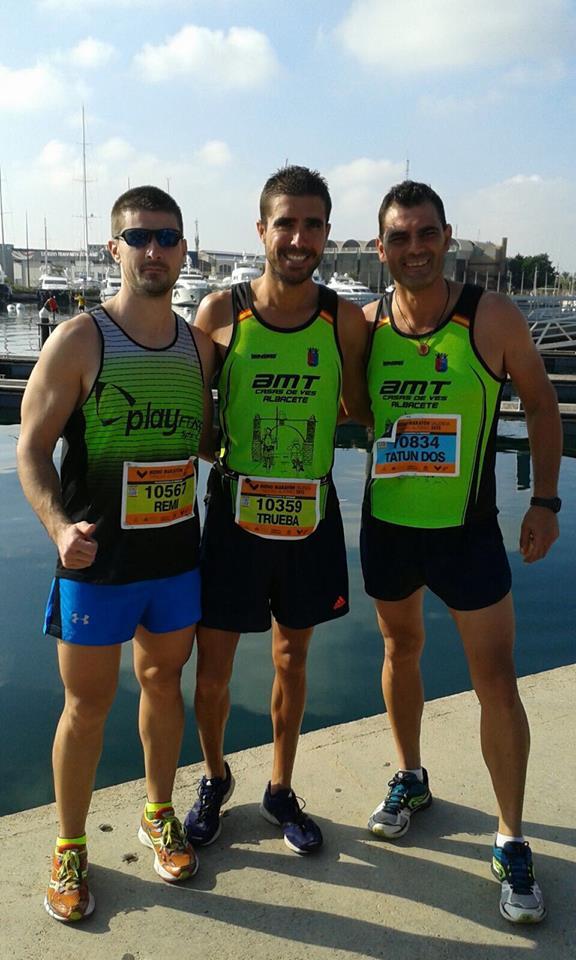 Remi, Juan y Alberto, en la Media Maratón de Valencia